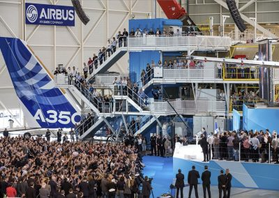 Inauguration A350 Assembly Line